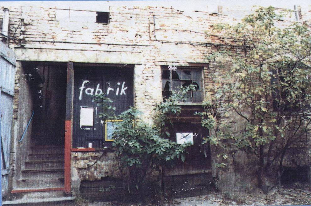 Eingang Tanzstudio fabrik Gutenbergstr 1991