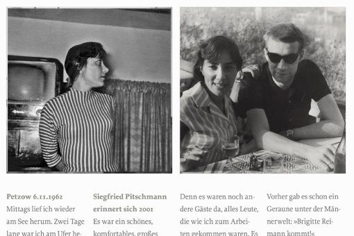 Zwei Fotos mit Brigitte Reimann und Siegfried Pitschmann